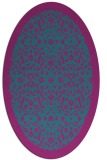 rug #1285003   oval pink damask rug