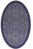 rug #1285011 | oval blue-violet popular rug
