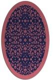 rug #1285015 | oval blue-violet popular rug
