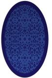 rug #1285023 | oval blue-violet borders rug