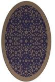 rug #1285027   oval blue-violet damask rug
