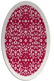 rug #1285039 | oval red traditional rug