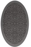 rug #1285079 | oval brown damask rug