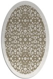 rug #1285087 | oval white traditional rug
