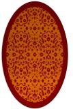 rug #1285135 | oval orange traditional rug