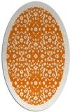 rug #1285139 | oval orange popular rug