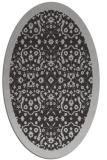 rug #1285147   oval red-orange borders rug