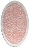 rug #1285163   oval pink damask rug