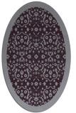 rug #1285179 | oval purple damask rug