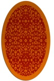 rug #1285187 | oval red damask rug