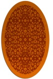 rug #1285199 | oval red-orange damask rug