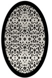 rug #1285215 | oval white traditional rug