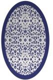 rug #1285223 | oval blue borders rug