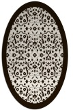 rug #1285227 | oval brown damask rug