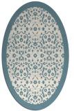 rug #1285235 | oval white rug