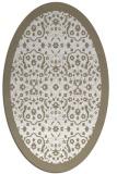 rug #1285239 | oval white traditional rug