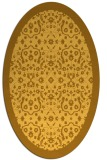 rug #1285255 | oval light-orange damask rug