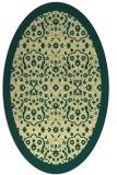 rug #1285259 | oval yellow traditional rug