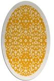 rug #1285279 | oval light-orange damask rug
