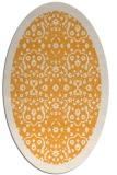 rug #1285287 | oval light-orange damask rug
