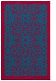 rug #1285411 |  blue-green damask rug