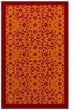 rug #1285503 |  orange damask rug