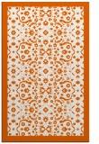 rug #1285579 |  red-orange damask rug