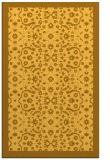 rug #1285623 |  yellow damask rug