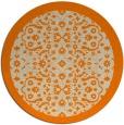 rug #1285659 | round orange borders rug
