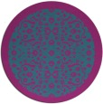 rug #1285739 | round pink traditional rug