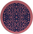 rug #1285751 | round pink traditional rug