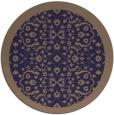 rug #1285763 | round beige damask rug