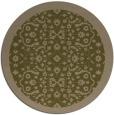 rug #1285771 | round brown damask rug