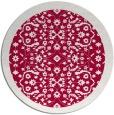 rug #1285775 | round red borders rug