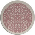 rug #1285783 | round pink traditional rug