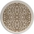 rug #1285819   round beige damask rug