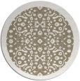 rug #1285823 | round white borders rug