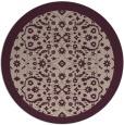 rug #1285827 | round pink damask rug