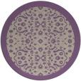 rug #1285847 | round beige damask rug