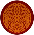 rug #1285871 | round orange borders rug
