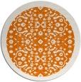 rug #1285875 | round orange traditional rug