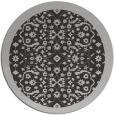 rug #1285883 | round orange damask rug
