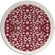 rug #1285891   round pink borders rug