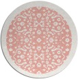 rug #1285899 | round white traditional rug