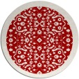 rug #1285919 | round red damask rug