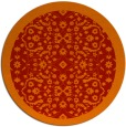 rug #1285923 | round red borders rug