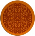 rug #1285935 | round red-orange traditional rug