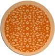 rug #1285939 | round red-orange traditional rug