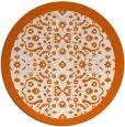 rug #1285947 | round red-orange borders rug