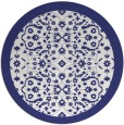 rug #1285959   round blue traditional rug